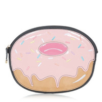 Pink Donut Clutch with Chain