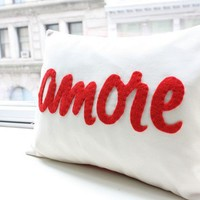 Amore Pillow Italian Love by HoneyPieDesign on Etsy