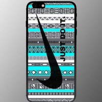 Heru - Nike Aztec Just Do It Mint for Iphone 4 4s 5 5s 5c 6 6plus Case (iphone 6plus black)