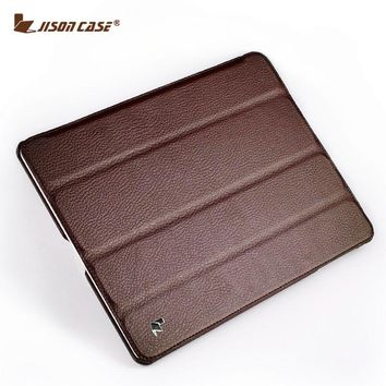 Jisoncase Smart Case For iPad 4 3 2 Cover Stand Tablet Designer Ultra Thin Leather Covers & Cases