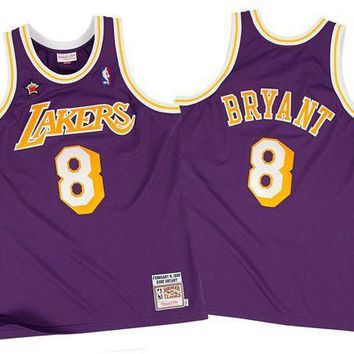CREY8UH Mitchell & Ness Kobe Bryant 1998-99 Authentic Jersey Los Angeles Lakers In Purple