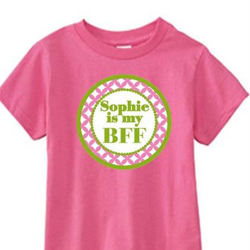 'Best Friends' Personalized Pink T-Shirt