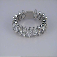 3.20ct Marquise Diamond Eternity Ring 18kt White Gold   JEWELFORME BLUE
