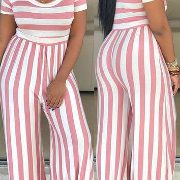 Bitter Sweet Stripped One Piece Jumpsuit