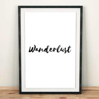 Wanderlust PRINTABLE art, Room decor, Minimalist poster wall decor, Wall print, Travel gifts, Digital art print, Wanderlust poster