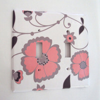 Double Switchplate Cover In Pink An.. on Luulla