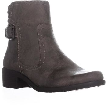 AK Anne Klein Sport Lanette Short Motorcycle Boots, Taupe, 7 US