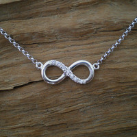 Double side infinity necklace