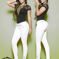 White Enhancing Colombian Skinny Jeans