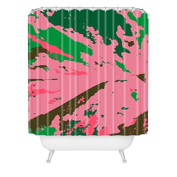 Rosie Brown Caladium Shower Curtain