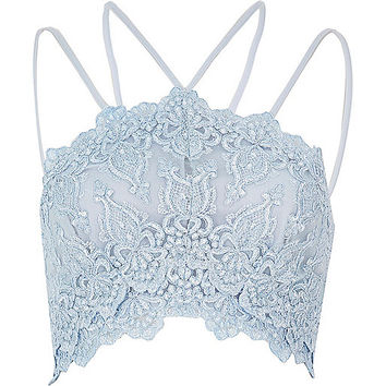 Light blue cornelli bralet