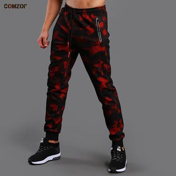 Autumn men outdoor running camouflage sports pants track joggers man gym training pants basketball fitness jogging trousers