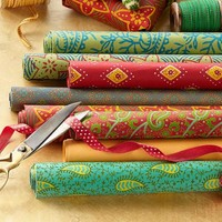 Handmade Cotton Wrapping Paper Set | Robert Redford's Sundance Catalog