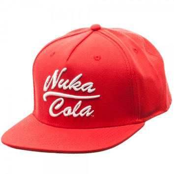 Fallout Nuka Cola Red Snapback Hat Cap