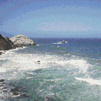 Pacific Ocean, West Coast, California, Water, Counted Cross Stitch Pattern, Xstitch Download PDF Pattern