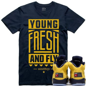 Jordan Retro 5 Michigan Inspire Sneaker Tees Shirt - YOUNG FRESH