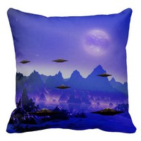 UFO alien galaxies space Pillows