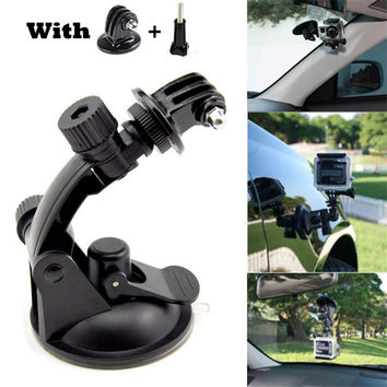 Go Pro Car Suction Cup Mount Holder Tripod Mount Adapter for Gopro Hero 4 3+ 3 Sjcam Xiaomi Yi Camera Ventosa Tripe Accessories