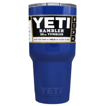 Promotional YETI 30 oz Blue Gloss Custom Tumbler