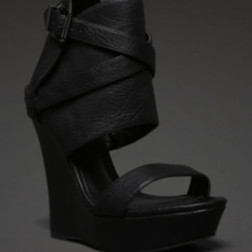 Strappy Platform Wedge