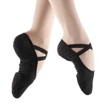 All-Way Stretch Canvas Ballet Slipper (Black) SD16 SD18