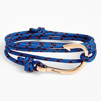 Men's Miansai Rose Gold Hook Rope Bracelet - Blue