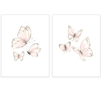 Blush Pink Butterfly Baby Wall Decor
