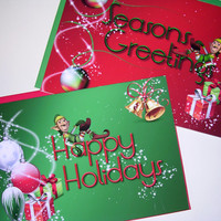 Christmas cards - Christmas - card - Elf Holiday - Elf Christmas- Xmas