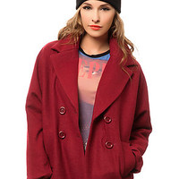 The Cotton Candy Jacket in Red Wine