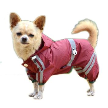 SYDZSW Reflective Single Layer Dog Raincoat for Small to Medium Dogs Cats Waterproof Pet Clothes Puppy Dog Rain Coat XS - 2XL