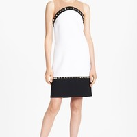 Michael Kors Studded Colorblock Crepe Dress