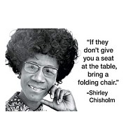 If They Don't Give You a Seat at the Table, Bring a Folding Chair Fridget Magnet