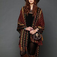 Free People Woven Blanket Poncho