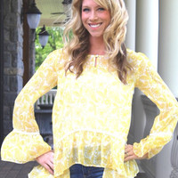 Wild Child Yellow Blouse