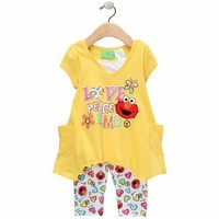 Sesame Street Elmo Love  Peace Leggings Set - Toddler