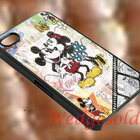 Minnie and mickey mouse vintage, iphone 4/4s,5/5s,5c, Samsung Galaxy s3,s4,s5, Galaxy Note 2,3, iPod 4,5 Touch