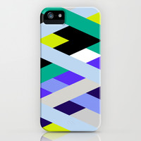 Smart Diagonals Lime iPhone & iPod Case by House of Jennifer