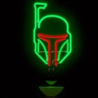 Star Wars Boba Fett Neon Table Light : TruffleShuffle.com
