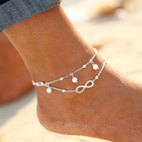1PC Hot Summer Beach Ankle Infinite Foot Jewelry Anklets  ankle bracelets for women