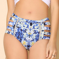 6 Shore Road Cut Up High-Waisted Bikini Bottom - Urban Outfitters