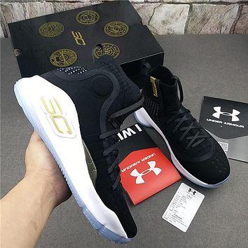 Under Armour Curry 4 Black Basketball Shoes
