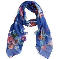 Joules Wensley Patterned Polyester Chiffon Scarf
