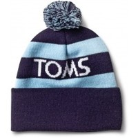 Unisex TOMS Cuffed Beanie with Pom - Navy