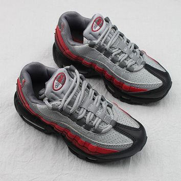 Nike Air Max 95 Child Shoes Grey Black Red Toddler Kid Shoes