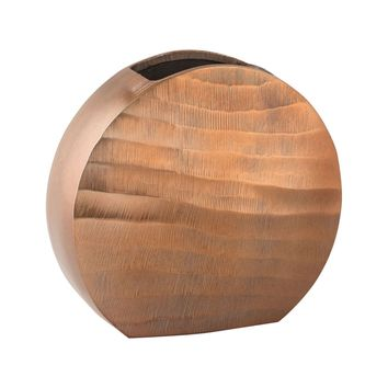 Faux Bois Oval Vase Copper