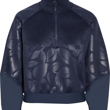 Adidas by Stella McCartney - Run shell-paneled embossed neoprene sweatshirt