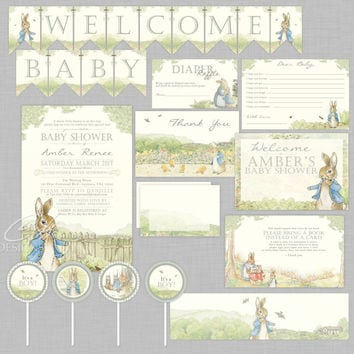 Peter Rabbit DIY Printable Baby Shower Package