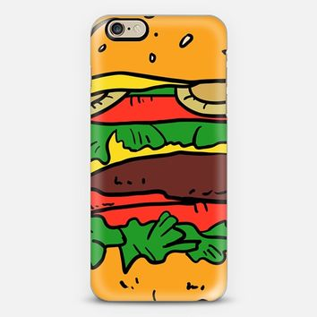 Hamburger iPhone 6s case by Sara Eshak | Casetify