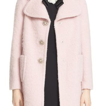 kate spade new york jewel button coat | Nordstrom