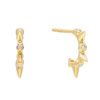 Diamond Spike Stud Earring 14K